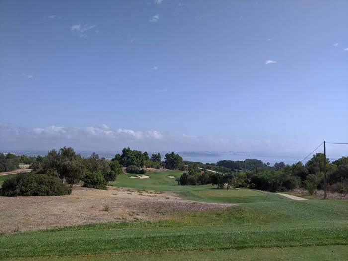 view from the tee at palmares golf 10th hole