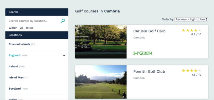 how to see whether a course accepts 2-fore-1 vouchers
