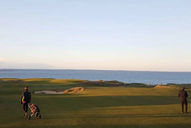 Electric Golf Trolleys on Castle Course St Andrews